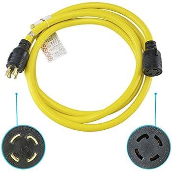 NEMA L14-30 Generator Extension Cord - 20 Foot, 30A, 125