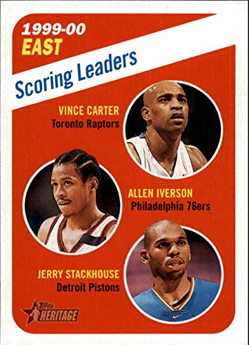 2000-01 Topps Heritage #138 Vince Carter Allen Iverson Jerry Stackhouse NBA Basketball Trading Card ()