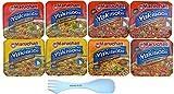 Maruchan Yakisoba Noodles 8 Pack Chicken Lover Variety bundle With 1 White Spork