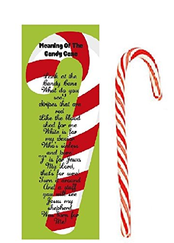 Meaning Of The Candy Cane Bookmarks with Candy Canes 24 Pack