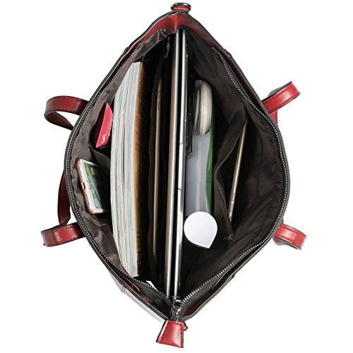 Bags Handle Shoulder Wine Purse Handbags Tote Satchel Red Top Women F6P1XX