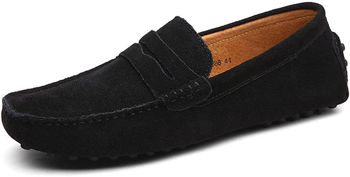 96343835f8fac0 CCZZ Men's Minimalism Moccasins Lightweight Casual Loafers Soft Sole Driving  Shoes Suede Flats Boat Shoes,