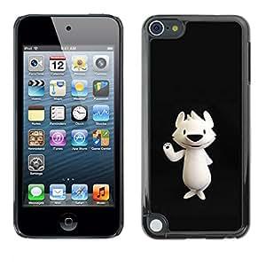For Apple iPod Touch 5 Case , Polar Bear Cartoon Black Nose - Diseño Patrón Teléfono Caso Cubierta Case Bumper Duro Protección Case Cover Funda