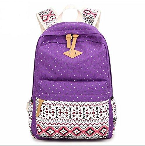 Alger Mädchen Rucksack Schultasche Rucksack Tasche Purple LBqIUg