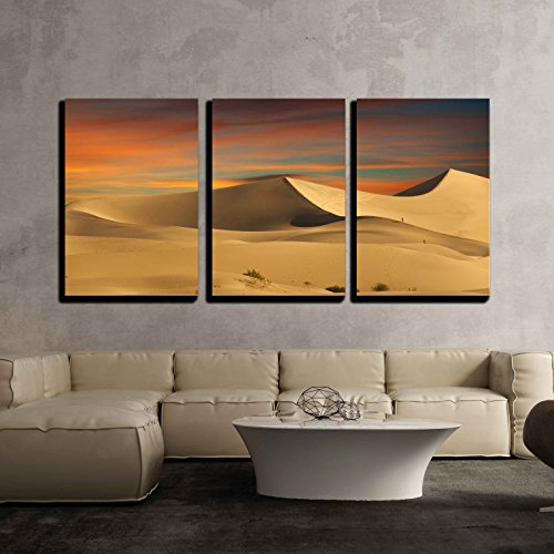 wall26 - 3 Piece Canvas Wall Art - Desert Sand Dunes - Modern Home Decor Stretched and Framed Ready to Hang - 24''x36''x3 Panels by wall26