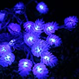 Olyer Christmas LED String Lights Xmas 10M Pine Cone LED Lights Outdoor Party Decoration String Lights 8 Flashing Modes 110V (Blue, 10M)