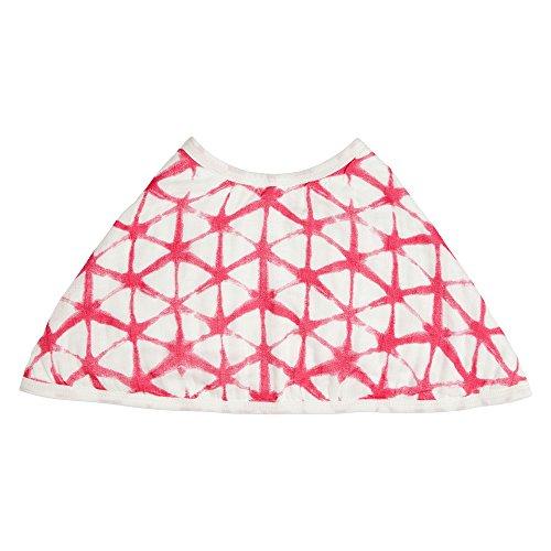 "aden + anais Silky Soft Burpy Bib, 100% Viscose Bamboo Muslin, Soft Absorbent 4 Layers, Multi-Use Burp Cloth and Bib, 22.5"" X 11"", Single, Berry Shibori"