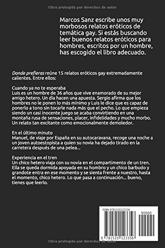Donde prefieras (Spanish Edition): Marcos Sanz: 9781520123356: Amazon.com: Books