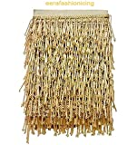 Eerafashionicing 9.5mtr Golden Tessals Laces With 2 Pink Button for Dresses, Sarees, Lehenga, Suits, Bags, Decorations, Borders, Crafts ( Combo Laces with Button)