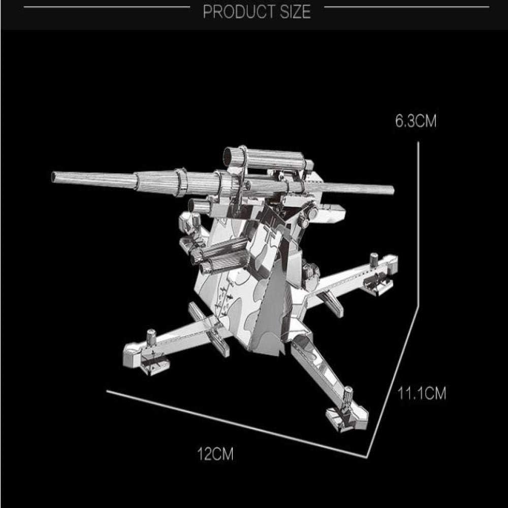 Alemania 88 MM Arma antiaérea 3D Metal montado Modelo DIY Juguetes ...
