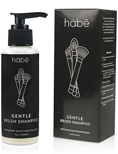 habe Makeup Brush Cleaner Solution - GENTLE Make Up Brush Cleansing Shampoo - Cleanser for Cosmetic Brushes, Beauty Tools, and Blender Sponge - MADE IN USA :: Cruelty-Free :: Paraben-Free :: 4 ounce (Eco Soap 4 Ounce)