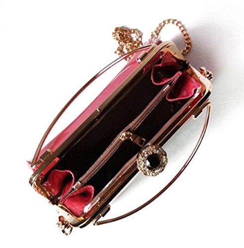 Main à Métal En Coque Nouvelle De FZHLY Pink Européen Sac Diamant Américain En Serpent Et Cuir Verni pq0nf