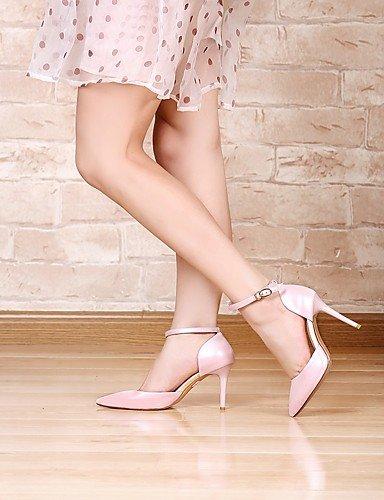 Puntiagudos Stiletto tacón Cn39 rosa Zapatos Ggx Trabajo Eu39 us6 White De tacones Y Uk6 Pink Cn36 Blanco cuero Uk4 Casual oficina Eu36 Mujer tacones us8 xqAwFn