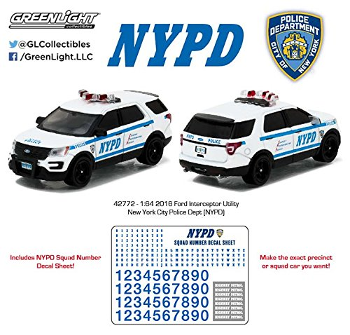 GREENLIGHT 1:64 NYPD - 2016 FORD INTERCEPTOR UTILITY WITH