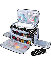Luxja Sewing Machine Carrying Bag, Travel Case with Multiple Storage Pockets Fits for Most Standard Sewing Machines and Accessories