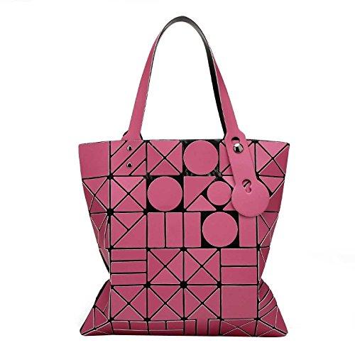 Lingge Sac Rubik's Sac Été Et à Bandoulière Mode Femme Pliage Pour Main Cube Pink Printemps à Laser Géométrie Sac qZwZrnPOX6