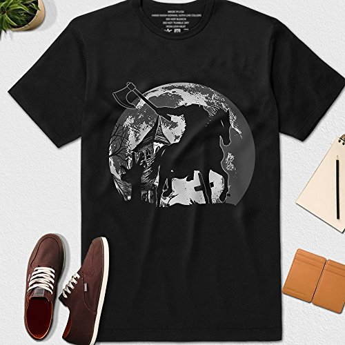 Legend of Sleepy Hollow Headless Horseman Halloween Costume Customized T-Shirt Long Sleeve Tank Top Hoodie -