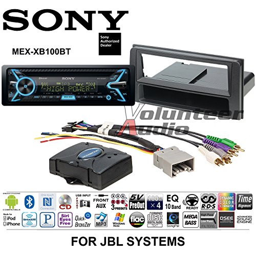 Volunteer Audio Sony MEX-XB100BT Double Din Radio Install Kit with Bluetooth, CD Player, USB/AUX Fits 2003-2009 Toyota 4Runner (Works With Factory Navigation and JBL System Only)
