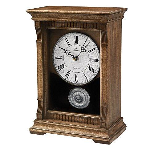 Antique Oak Mantel (Bulova Warrick III Mantel Clock)