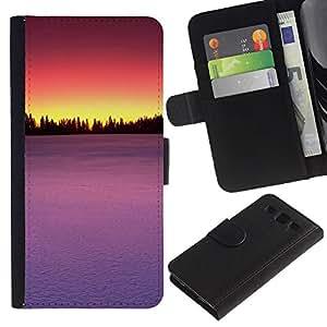Paccase / Billetera de Cuero Caso del tirón Titular de la tarjeta Carcasa Funda para - Sunset Beautiful Nature 85 - Samsung Galaxy S3 III I9300