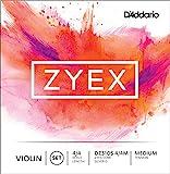 D'Addario Zyex Violin String Set, 4/4 Scale, Silver D Medium Tension