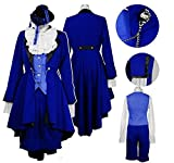 UU-Style Black Butler Iiel Phantomhive Blue Jacket Pants Birthday Cosplay Costum