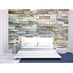 wall26 - Decorative Tiles Made from Natural Granite Stone - Removable Wall Mural | Self-adhesive Large Wallpaper - 66x96 inches