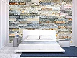 wall26 - Decorative Tiles Made from Natural Granite Stone - Removable Wall Mural   Self-adhesive Large Wallpaper - 100x144 inches