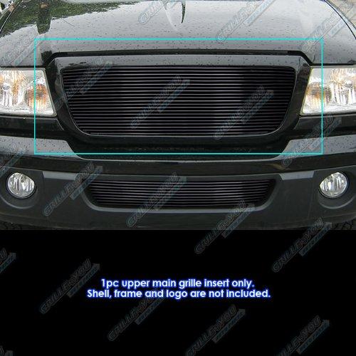 - APS Fits 2006-2012 Ford Ranger Black Main Upper Billet Grille Grill Insert #N19-H24358F