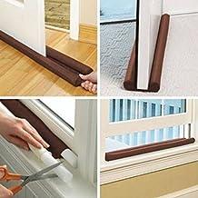 Simply Silver - Doorstop Home - US Twin Door Draft Dodger Guard Stopper Energy Saving Protector Doorstop Home