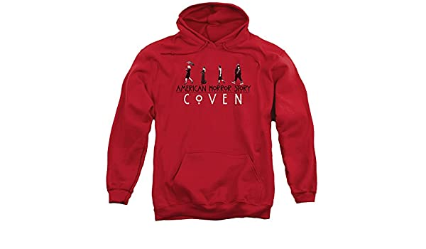 American Horror Story Mens Witch Parade Pullover Hoodie, Small, Red at Amazon Mens Clothing store: