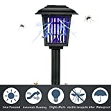 HeyMate Solar Bug Zapper IP44 Waterproof Bright UV Light Electronic Insect Killer 2 Lighting Modes Applicable to Yard, Camping, Gardens, Etc.(Square)