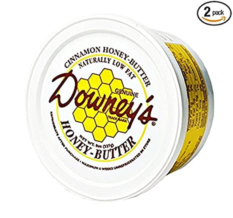 Amazon.com : Downeys Natural Honey Butter Variety Pack, Original and Cinnamon Flavors, 8 Oz. Tubs (Pack of 2) : Grocery & Gourmet Food
