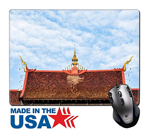 "MSD Natural Rubber Mouse Pad/Mat with Stitched Edges 9.8"" x 7.9"" Horkhumluang in the royal flora chiangmai Thailand 32015271 Customized Desktop Laptop Gaming Mouse - Savannah Mal"