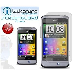 iTALKonline Screen LCD arañazos Protector (5 Pack) y paño de microfibra para Screen LCD Scratch Protector (5 Pack) & MicroFibre Cloth - HTC Salsa