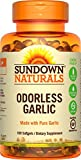 Sundown Naturals Odorless Pure Garlic, 100 Softgels (Pack of 3)