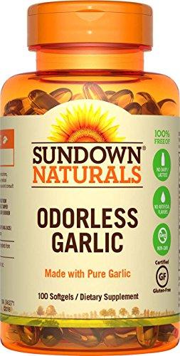 Sundown Naturals Odorless Pure Garlic, 100  Softgels (Pack of -