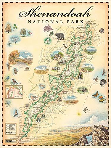 Xplorer Maps Shenandoah National Park Map - Map Art