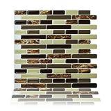 Cocotik Peel and Stick Tile 10.5'x10' 3D Decorative Backsplash Kitchen Tile - Pack of 6