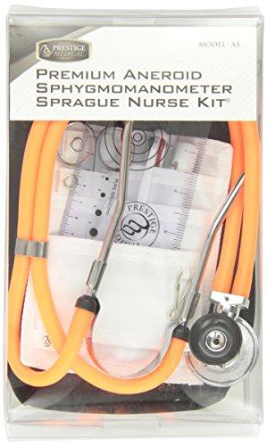 - Prestige Medical A5 Aneroid Sphygmomanometer and Sprague-Rappaport Nurse Kit, Neon Orange