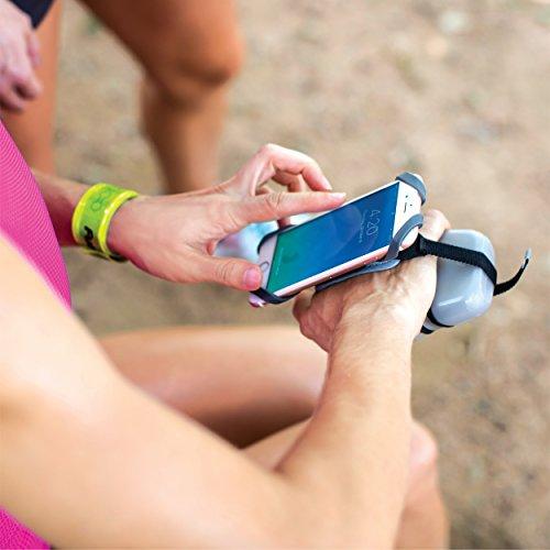 FuelBelt Tech Fuel Hand Held Running Water Bottle with Smartphone Holder, 10 oz