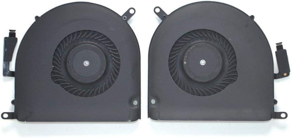 OLVINS Ventilador de refrigeración de la CPU Izquierdo y Derecho para MacBook Pro Retina 15'' A1398 Cooling Fan 2013 2014 2015
