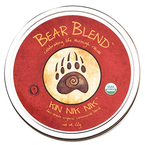Bear Blend Organics Ceremonial Herbal Smoking Blend - Handcrafted Nicotine-Free Tobacco Alternative Used With Herbal Cigarettes, Pipes, and Tea (Kin Nik Nik) (Blends Organic Herbal)