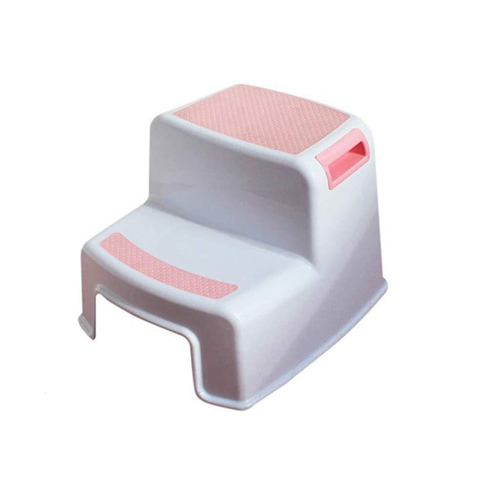 Homdsim passo sgabello bambino sgabello per WC potty training Soft Grip antiscivolo per sicurezza bagno potty sgabello da cucina e sgabello, Grey, 1 confezione