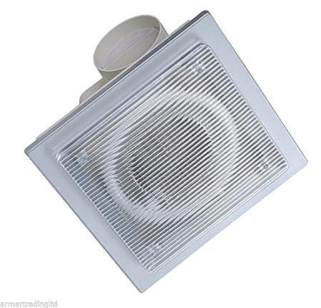 Miraculous Bathroom Ceiling Extractor Fan With Lamp And Non Return Valve Back Draft Shutter Light Modern Ventilator Ecfl 16G Interior Design Ideas Gentotryabchikinfo