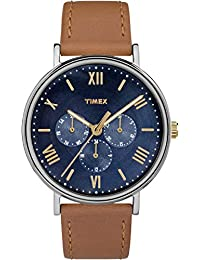Unisex TW2R29100 Southview 41 Multifunction Tan/Blue Leather Strap Watch
