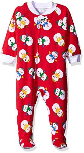 Price comparison product image Sara's Prints Toddler Boys' Footed Soft Pajamas,  Mittened Snowmen,  12M