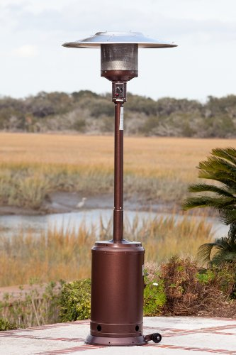Fire Sense Commercial Patio Heater with Full Length Patio Heater Cover