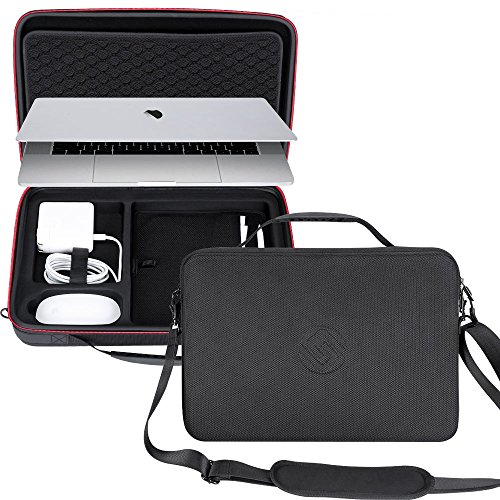 Smatree Carry Case for 15.4 inch MacBook Pro 2019/2018/ 2017 Laptop Case, Protective Business Briefcase for 2018/2017 MacBook Pro 15.4 in/iPad Pro 10.5 inch/iPad 9.7 inch/2018 MacBook Air 13 inch ()