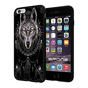 Wolf DreamCatcher Apple Smartphone iPhone 6 Plus 5.5 inch Case Cover Collector TPU Soft Black Hard Cases by mcsharks